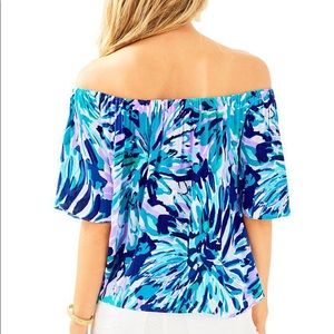 04f9f06e792f0 Lilly Pulitzer Tops - Lilly Pulitzer Sain Top in Capri Teal NWT